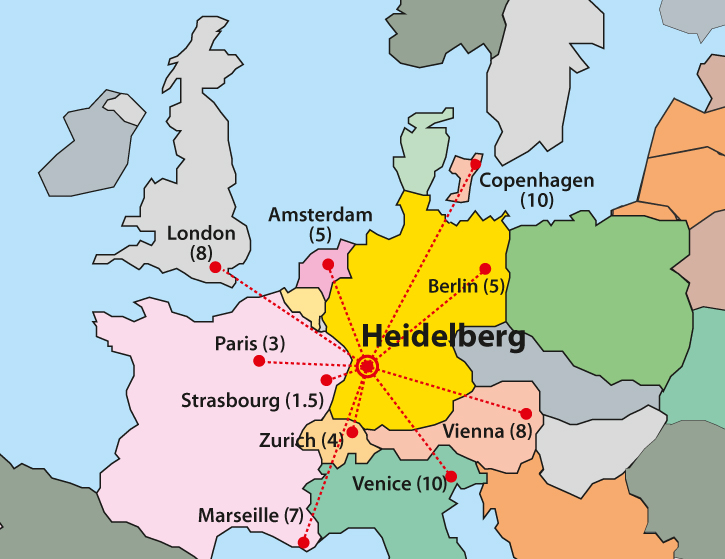 Heidelberg University Campus Map.Programs Brochure The Center For International Affairs